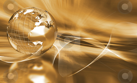 Abstract globe stock photo, Abstract globe background by Kirsty Pargeter