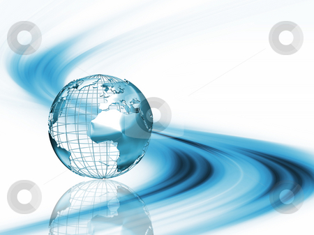 Abstract globe stock photo, Wireframe globe on abstract background by Kirsty Pargeter