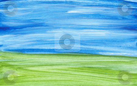Abstract landscape stock photo, Hand painted abstract landscape by Kirsty Pargeter