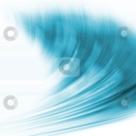 Abstract Blue Wave stock photo,  by Kirsty Pargeter