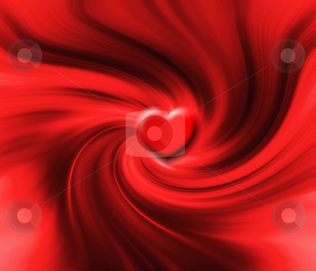 Heart swirl stock photo, Abstract heart background by Kirsty Pargeter