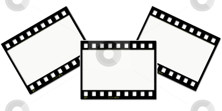 Film strips stock photo, Film strips background by Kirsty Pargeter