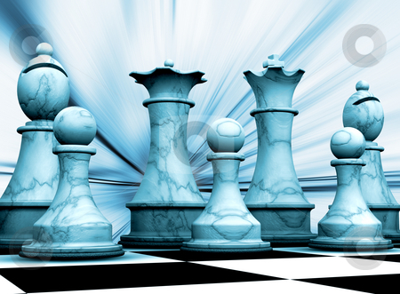 Chess pieces stock photo, Abstract background with chess pieces by Kirsty Pargeter