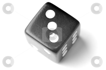 Black Die 3 - Three at top stock photo, Black Die on White - Three at top. Similar images of 1-6 exists by Gjermund Alsos