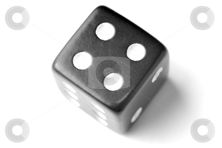 Black Die 4 - Four at top stock photo, Black Die on White - Four at top. Similar images of 1-6 exists by Gjermund Alsos