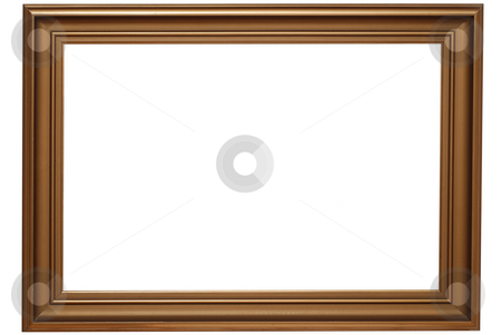 Gold frame stock photo, Classic gold frame isolated on white background. Clipping path included by Gjermund Alsos