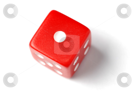 Red Die - One at top stock photo, Blue Die on White - One at top. Similar images of 1-6 exists by Gjermund Alsos