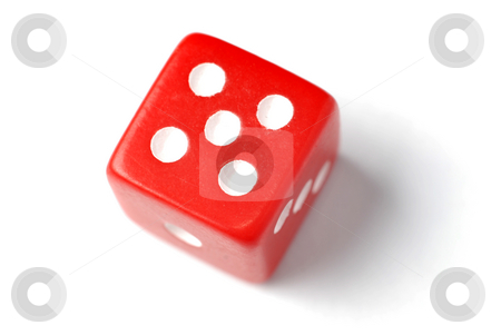 Red Die - Five at top stock photo, Blue Die on White - Five at top. Similar images of 1-6 exists by Gjermund Alsos