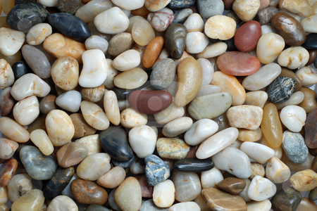 Stones stock photo, Abstract background with round pebble stones in warm colors by Gjermund Alsos
