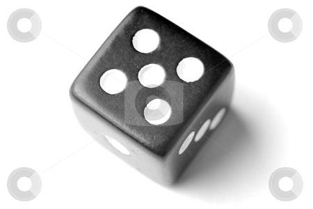 Black Die 5 - Five at top stock photo, Black Die on White - Five at top. Similar images of 1-6 exists by Gjermund Alsos