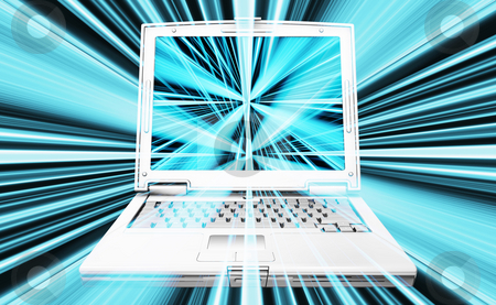 Laptop abstract stock photo, Abstract background with laptop by Kirsty Pargeter