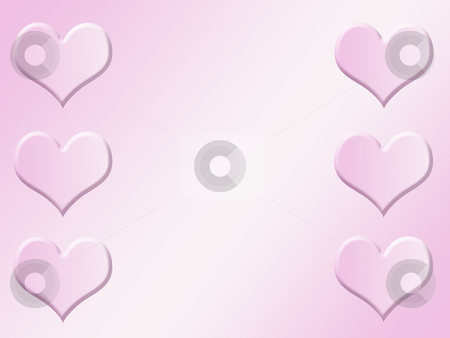 Heart background stock photo, Pink heart background by Kirsty Pargeter