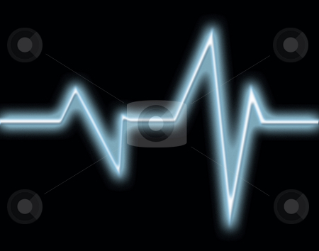 Heart beat stock photo, Heart beat monitor background by Kirsty Pargeter