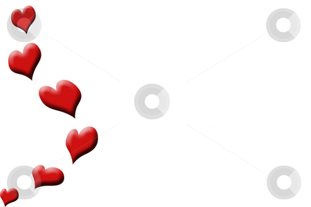 Falling hearts stock photo, Falling hearts background by Kirsty Pargeter