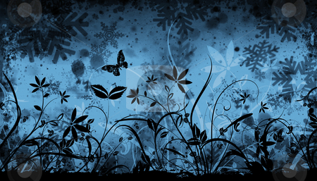 Winter floral stock photo, Floral winter abstract by Kirsty Pargeter