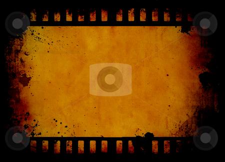 Grunge film strip stock photo, Film strip grunge background by Kirsty Pargeter