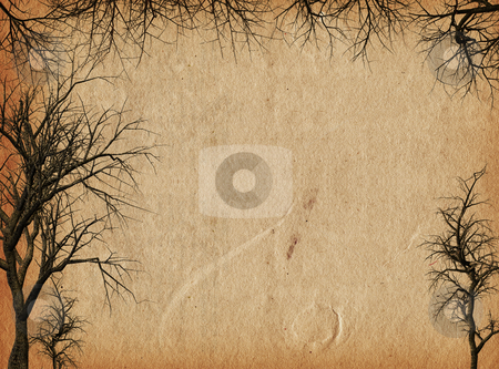 Grunge trees stock photo, Silhouettes of trees on grunge style background by Kirsty Pargeter