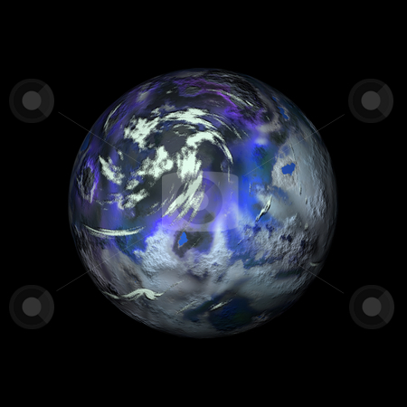 Weird planet stock photo, Fictional planet by Kirsty Pargeter