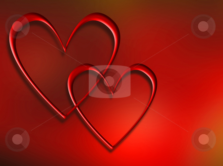 Interlocking hearts stock photo, Two interlocking hearts by Kirsty Pargeter