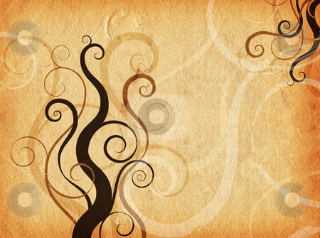 Grunge swirls and curls stock photo, Swirls and curls on grunge style background by Kirsty Pargeter