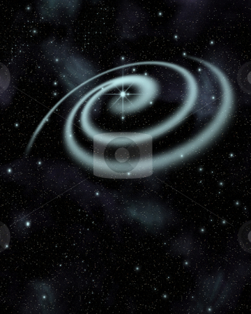 Solar system stock photo, Solar system in starry sky by Kirsty Pargeter