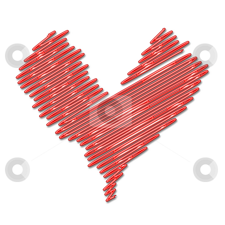 Neon heart stock photo, Neon heart by Kirsty Pargeter