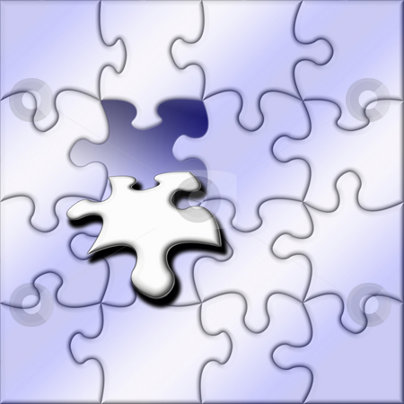 The final piece stock photo, Jigsaw background by Kirsty Pargeter