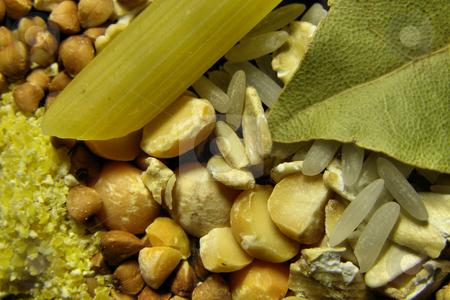 Buckwheat stock photo, Meal grain, rice, buckwheat, pea by Sergej Razvodovskij