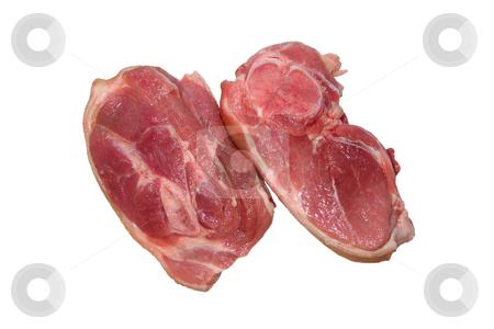 Raw meat stock photo, Two pieces of raw meat by Sergej Razvodovskij