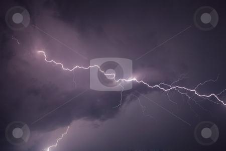 Thunderbolt stock photo, Thunderstom over Bern, Switzerland by mdphot