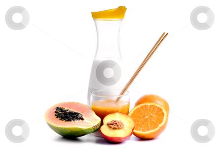 Juice  stock photo, A glass of orange juice with cut oranges by Rui Vale de Sousa