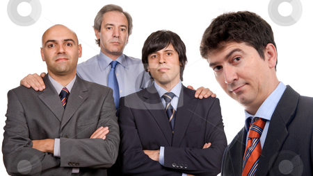 Business men stock photo, Four business men posing, focus on right man by Rui Vale de Sousa