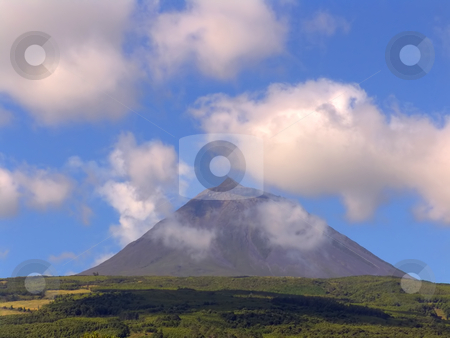 Mountain stock photo, Azores mountain of Pico in Pico island by Rui Vale de Sousa