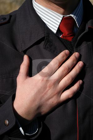 Hands stock photo, Business man with suit hand at the sun light by Rui Vale de Sousa