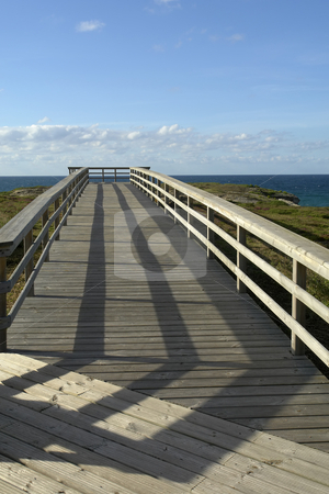 Passage stock photo, Wood passage at the coast and the sky by Rui Vale de Sousa