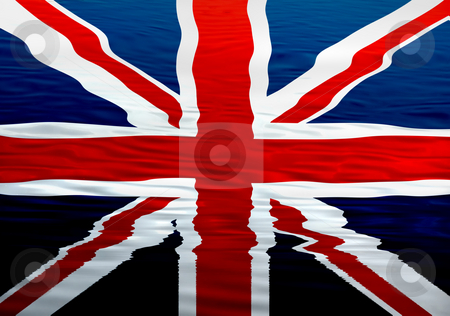 England stock photo, England flag ilustration in the water, computer generated by Rui Vale de Sousa