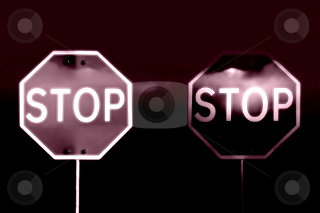 Stop stock photo, Street stop sign with clouds and sky as background by Rui Vale de Sousa