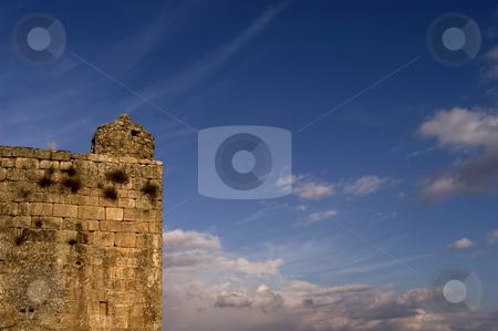 Castle stock photo, Obidos Castle detail in Perspective. Obidos, Portugal. by Rui Vale de Sousa