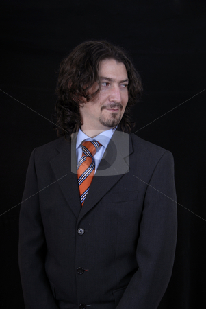 Business man stock photo, Young business man portrait on black background by Rui Vale de Sousa