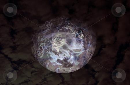 Moon stock photo, Half Moon illustration on the night sky by Rui Vale de Sousa