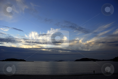 Beach stock photo, Beach in the north of spain at sunset by Rui Vale de Sousa