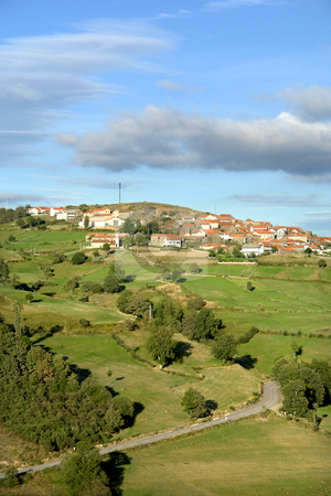 Village stock photo, North of portugal small village among the green by Rui Vale de Sousa