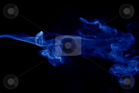 Smoke stock photo, Abstract colored smoke in black background by Rui Vale de Sousa