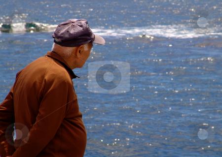 Man stock photo, Man and the ocean by Rui Vale de Sousa