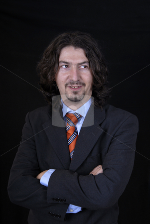 Young stock photo, Young business man portrait on black background by Rui Vale de Sousa