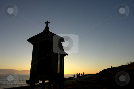 Chapel stock photo, Small chapel in spain at sunset in spain by Rui Vale de Sousa