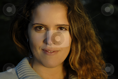 Woman stock photo, Young woman close up portrait, outdoor picture by Rui Vale de Sousa