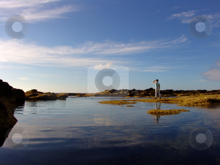 Mirror stock photo, Ocean mirror by Rui Vale de Sousa