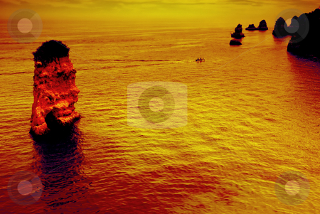 Rock stock photo, Rock on the ocean at the south of portugal by Rui Vale de Sousa