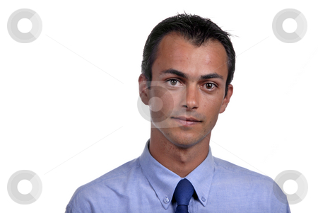 Male stock photo, Portrait of young man isolated on white by Rui Vale de Sousa